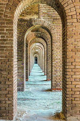 License Plate Skylines And Skyscrapers Rights Managed Images - Curved Arches-Fort Jefferson, Florida Royalty-Free Image by Julie A Murray