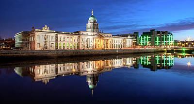 Photograph - Customs House and IFSC - Dublin by Barry O Carroll