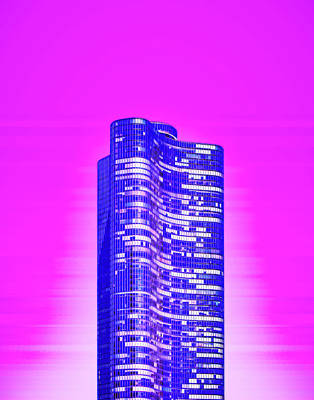 Royalty-Free and Rights-Managed Images - CyberPunk Neon, Cityscape - skyline - Urban -  Chicago Skyline, Illinois, USA - 47 by Celestial Images