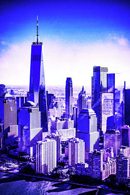Royalty-Free and Rights-Managed Images - CyberPunk Neon, Cityscape - skyline - Urban -  New York, United States 3 by Celestial Images