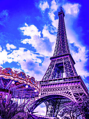 Royalty-Free and Rights-Managed Images - CyberPunk Neon, Cityscape - skyline - Urban -  Paris 10 by Celestial Images