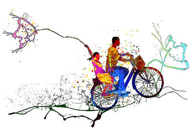 American Milestones - Cycling Passion 02 by Miki De Goodaboom