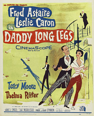 Royalty-Free and Rights-Managed Images - Daddy Long Legs - 1955 by Stars on Art