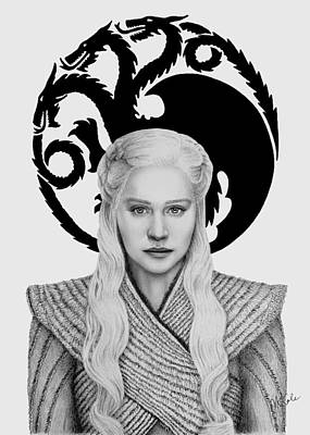 Drawing - Daenerys of House Targaryen by Vanessa Cole