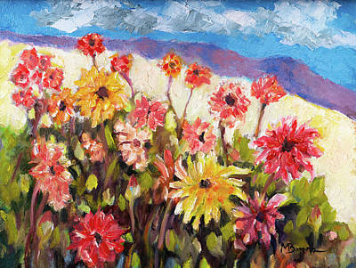 Painting - Dahlia Field by Mike Bergen