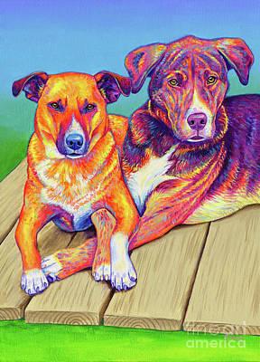 Painting - Daisy and Wayne by Rebecca Wang