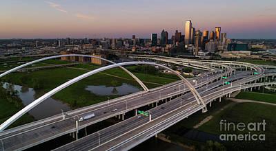 Photograph - Dallas Skyline at dusk by Keith Kapple