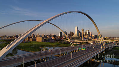 Photograph - Dallas Skyline at sunset by Keith Kapple