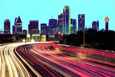 Royalty-Free and Rights-Managed Images - Dallas Texas Skyline Lights by Gregory Ballos