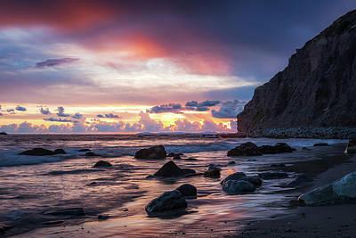 Photograph - Dana Cove and Catalina Island by Cliff Wassmann