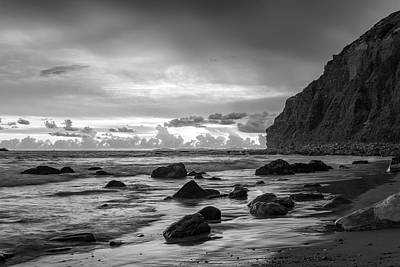 Photograph - Dana Cove Black and White by Cliff Wassmann