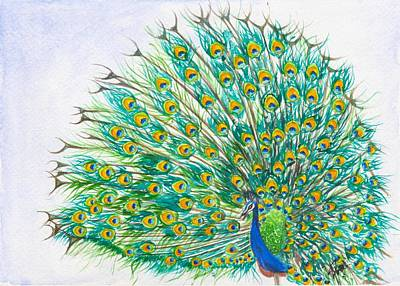 Painting - Dance of the Peacock by Swati Singh