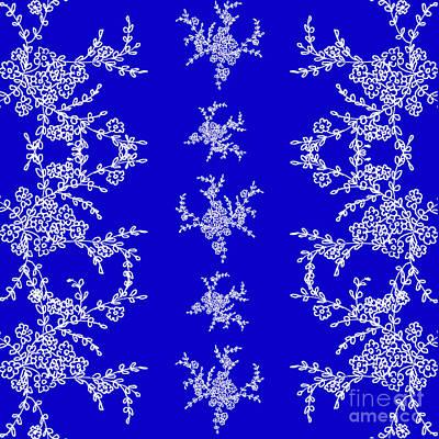 Belinda Landtroop Mixed Media - Dancing Branches in Blue by Belinda Landtroop