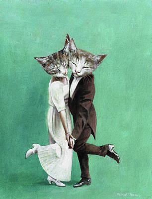 Royalty-Free and Rights-Managed Images - Dancing Cats by Michael Thomas