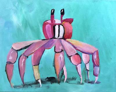 Winter Animals Rights Managed Images - Dancing Crab Royalty-Free Image by Kimberly Balentine