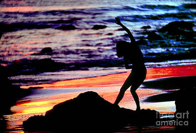Surrealism Royalty-Free and Rights-Managed Images - Dancing Woman and Colorful Ocean by Wernher Krutein