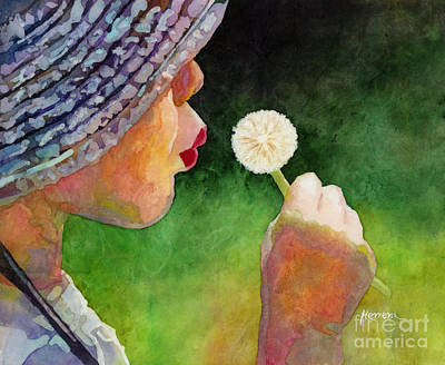 Animal Watercolors Juan Bosco - Dandelion Wish by Hailey E Herrera