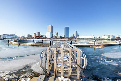 Photograph - DANGER - Icy Milwaukee Skyline by Vincent Buckley