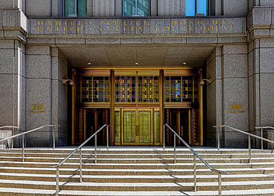 David Bowie - Daniel Patrick Moynihan Courthouse NYC by Robert Ullmann
