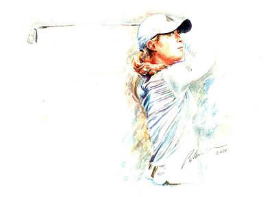 Painting - Danielle Kang LPGA Tour by Mark Robinson