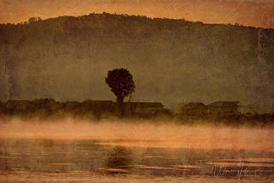 Digital Art - Danube River Landscape - 0300 by Wally Hampton