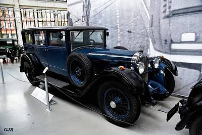 Transportation Digital Art - Dark Blue Veteran Saloon Car Of The Late 1920 s L A S by Gert J Rheeders