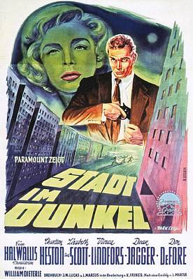 Royalty-Free and Rights-Managed Images - Dark City, with Charlton Heston and Lizabeth Scott, 1950 by Stars on Art
