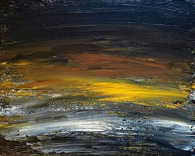 Painting - Dark Horizons Abstract by Amelia Pearn