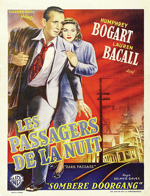 Personalized Name License Plates - Dark Passage, with Humphrey Bogart and Lauren Bacall, 1947 by Stars on Art