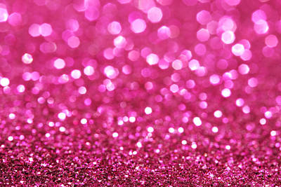 Royalty-Free and Rights-Managed Images - Dark pink festive elegant abstract background soft lights glitters sparkle background by Julien