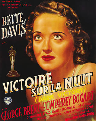 Mixed Media Royalty Free Images - Dark Victory, with Bette Davis, 1939 Royalty-Free Image by Stars on Art