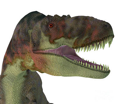 Truck Art Rights Managed Images - Daspletosaurus Dinosaur Jaws Royalty-Free Image by Corey Ford