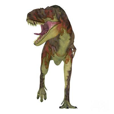 David Bowie - Daspletosaurus Dinosaur on White by Corey Ford