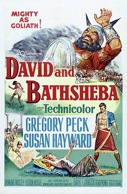 Personalized Name License Plates - David and Bathsheba, with Gregory Peck and Susan Hayward, 1951 by Stars on Art