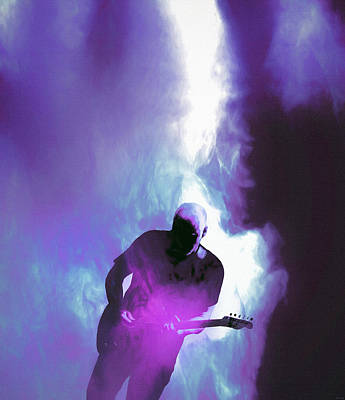 Musicians Royalty Free Images - David Gilmour Pink Floyd Musician Royalty-Free Image by Mal Bray