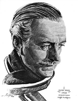 Drawings Royalty Free Images - David Niven by Volpe Royalty-Free Image by Stars on Art