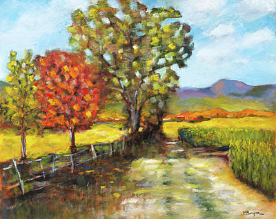 Painting - Davis Family Farm by Mike Bergen