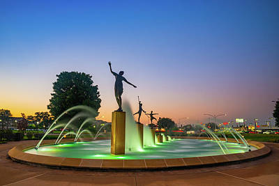 I Sea You - Dawn Light and the Kansas City Childrens Fountain by Gregory Ballos