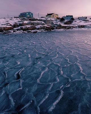 All American - Dawn light on sea ice by Murray Rudd