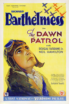 Mixed Media Royalty Free Images - Dawn Patrol, with Richard Barthelmess, 1930 Royalty-Free Image by Stars on Art