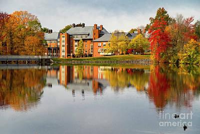 David Bowie - Dazzling Fall Colors Mount Holyoke College South Hadley Massachusetts by Wayne Moran