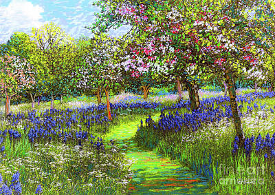 Landscapes Royalty-Free and Rights-Managed Images - Dazzling Spring Day by Jane Small
