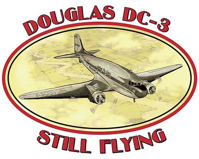 Mixed Media - DC-3 Still Flying by Barry Munden