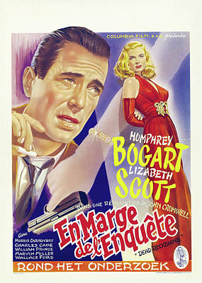 Personalized Name License Plates - Dead Reckoning, with Humphrey Bogart and Lizabeth Scott, 1947 by Stars on Art