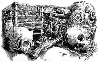 Drawing - December by Dan Henk