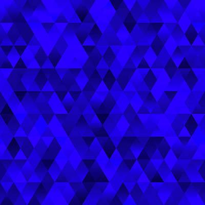 Digital Art - Deep Blue Abstract Geometric by Ruth Moratz
