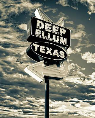 Unicorn Dust - Deep Ellum Texas Sepia Neon Sign by Gregory Ballos