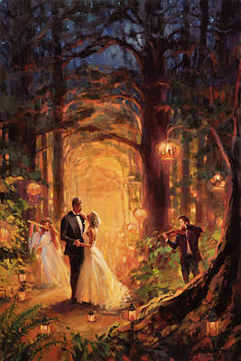 Black And White Flower Photography - Deep Forest Wedding by Steve Henderson