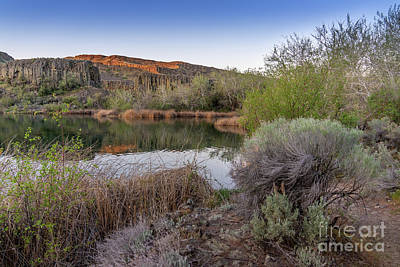 Rusty Trucks - Deep Lake at Sunrise II by Cindy Shebley