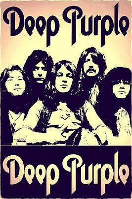 David Bowie Royalty Free Images - Deep Purple 1 Royalty-Free Image by S Dolinni